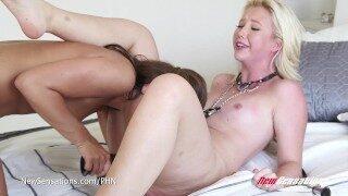 Adriana Chechik & Samantha Rone Lesbian Rough Sex
